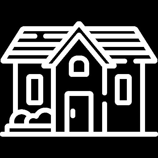 White large house icon